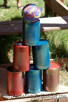 Old cans in to fun games!