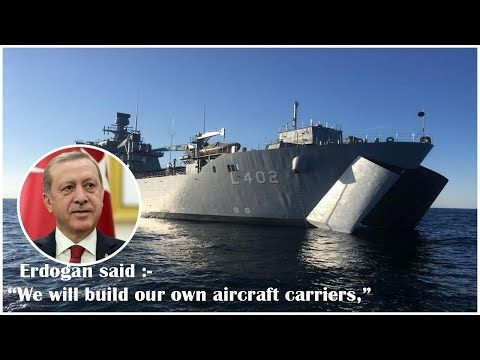 """Turkey to build its own aircraft carriers – Erdogan Turkey is """"committed"""" to building its own aircraft carriers the Turkish President has said. Recep Tayyip Erdogan added that Ankara is seeking self-sufficiency in its defense industry and will not allow anyone to block its military initi..."""