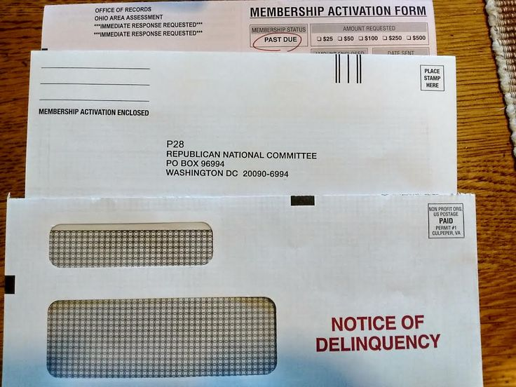 """The Republican National Committee sends a false """"Notice Of Delinquency"""" letter to solicit funds.. #Follow Me #CooliPhone6Case on Twitter Facebook Google Instagram LinkedIn Blogger Youtube"""