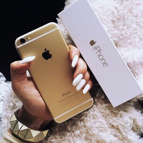 cute, goals, gold, iphone, nails, tumblr, white, iphone 6 - image ...
