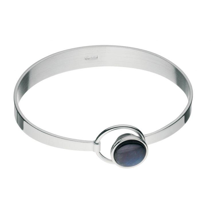 Kalevala Koru / Kalevala Jewelry / Elegant-rannekoru /  Elegant Bracelet / Design Jan Salakari / Silver & spectrolite