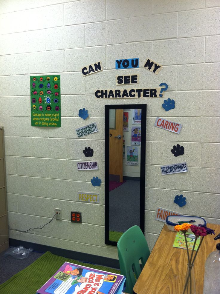 I like the idea of incorporating a mirror into the classroom with some positive statements around it....maybe in the bathroom?