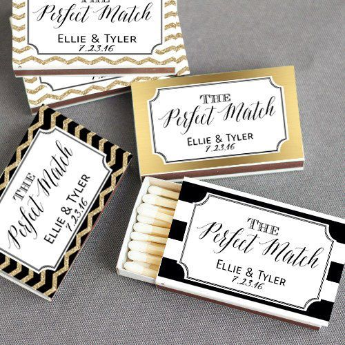 SET of 50 Personalized Matchboxes, Chalkboard Wedding Matchbox Favor, A Perfect Match Wedding Match Box, Matchbox Wedding Favor