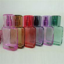 High Quality 25ml 1pcs/lot Glass Perfume Bottle Mini Multicolor Spray Bottle Refillable Empty bottle essential oil bottle(China (Mainland))