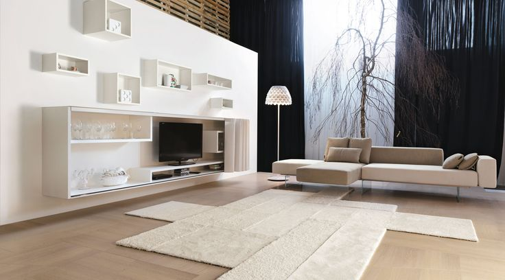 White rhythm °°° LAGO living °°° #lagodesign #interiordesign #minimal #living #sofa #etvoilà #storage