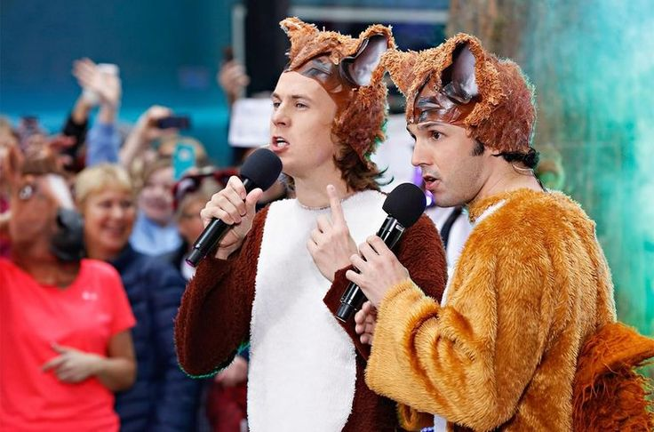 Bard Ylvisaker and Vegard Ylvisaker of Ylvis perform on NBC's TODAY Show.