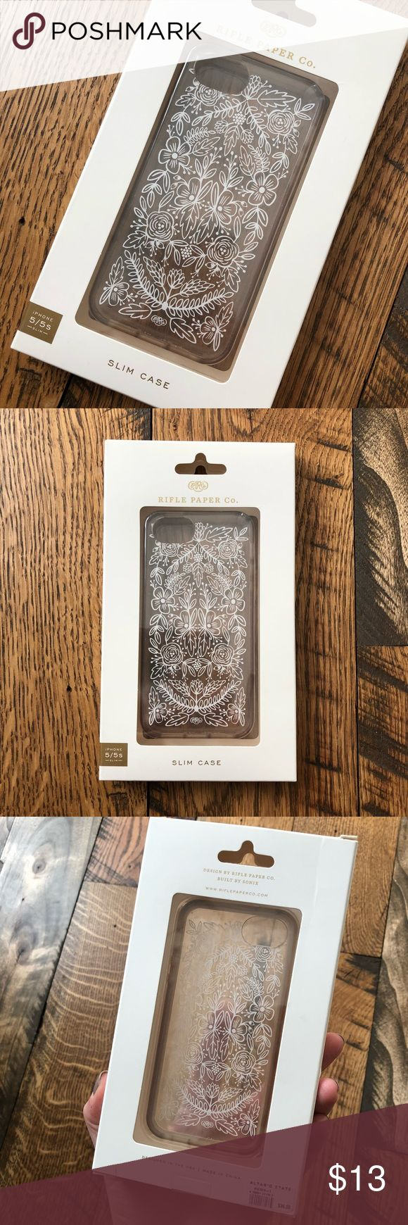 Rifle Paper iPhone 5/5s Clear Tapestry Case iPhone 5/5s case in great used condition and in original packaging💗 the grippy part around the outside has some darkening from use but otherwise this case is in great condition! $36 new Rifle Paper Other