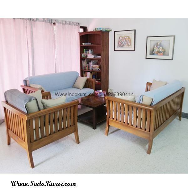 JualSet Kursi Tamu Minimalis Jari Jari merupakan Produk Furniture Desai Ruang Tamu Minimalis dengan Model Modern dengan desain minimalis Kayu Jati Full Jok