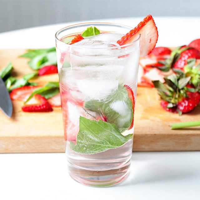 ... strawberries basil leaves sparklers fun drinks forward strawberry