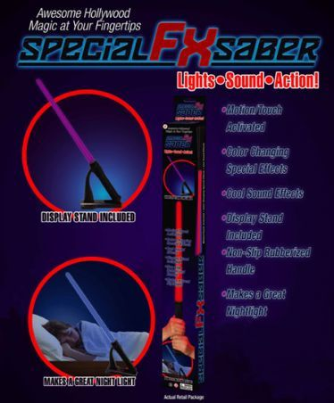 Special FX Saber ~ Color changing saber with cool sound effects!