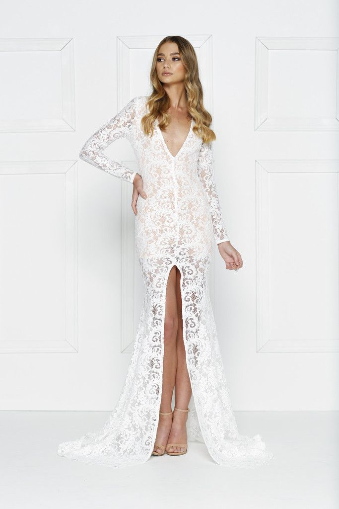 Alamour The Label - Jasmyne White Gown