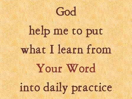 Be doers of the word, and not hearers only.. James 1:22 ESV
