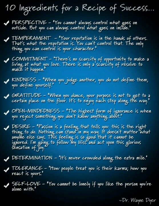 Wise Quotes About Success In Life: Recipe For Success