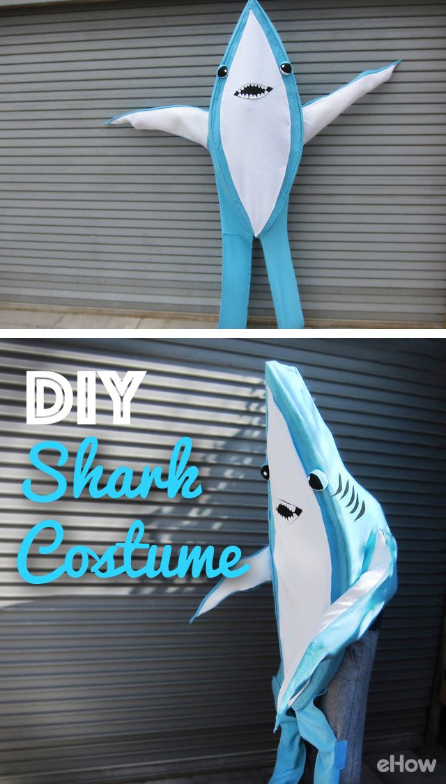 Who didn't fall in love with Left Shark from Katy Perry's Super Bowl Half-time show this year? Bring him to life with this easy to make shark costume. Full DIY instructions here! http://www.ehow.com/how_12340915_diy-shark-costume.html?utm_source=pinterest.com&utm_medium=referral&utm_content=freestyle&utm_campaign=fanpage