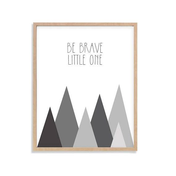 Nursery Print Children's Wall Art Baby Nursery Decor Be