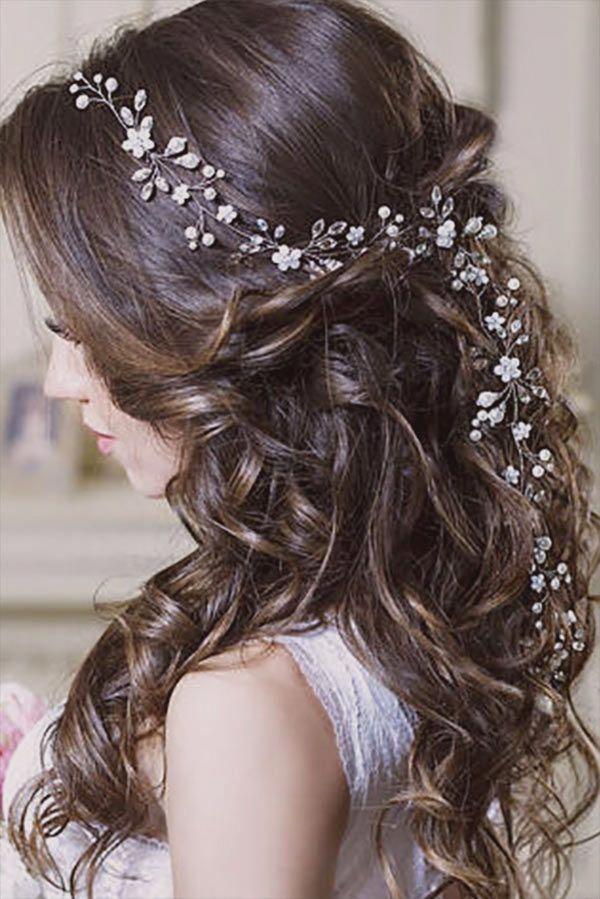 98 Wedding Hairstyle Idea Image Rustic Wedding Hairstyles Rustic Wedding Hair Accessories Long Hair Styles