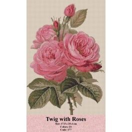 Gobelin Tapestry Set - Twig with Roses