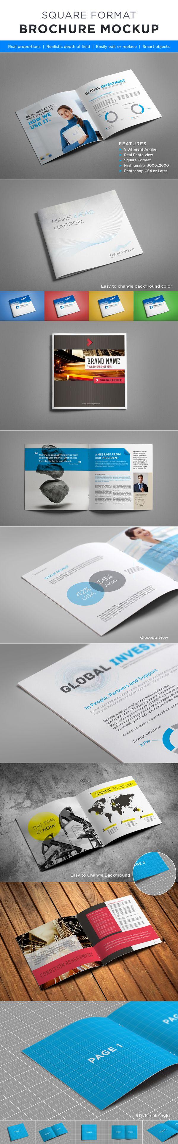 Square Brochure Mock-up by Andrej Sevkovskij, via Behance