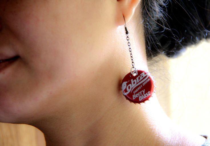 How to Make Bottle Cap Earrings -- via wikiHow.com