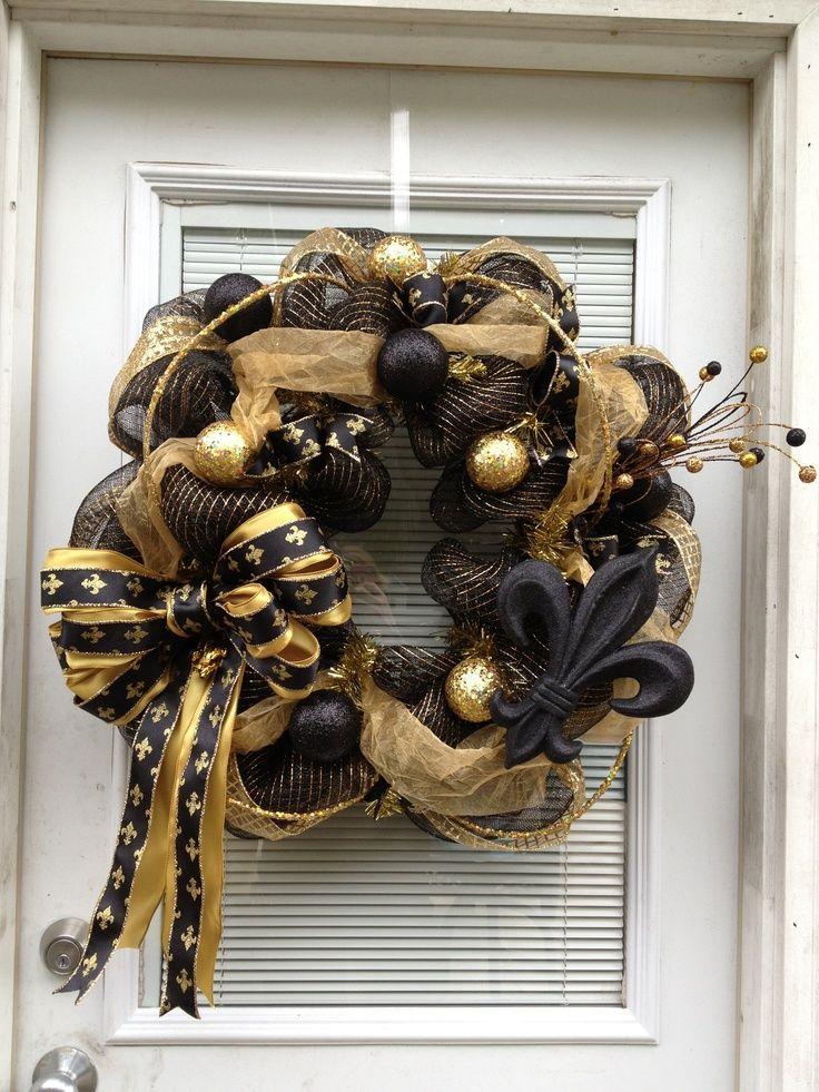 new orleans saints wreaths | New Orleans Saints Wreath | Who Dat... New Orleans Saints
