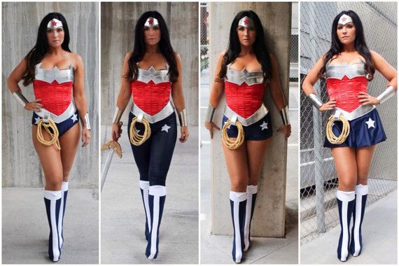 To make your custom Wonder Woman bottoms, I will need the following information from you. Please leave it in a note when checking out, rather than in a private message, so that it will come up on my invoice. If you would like the full costume, please see my other listings. 1. I will need your waist, hip and thigh (top of the leg) measurement. Refer to chart in listing pictures, please note whether you fall in the REGULAR or PLUS SIZE range (based on your waist size) and check out with the…