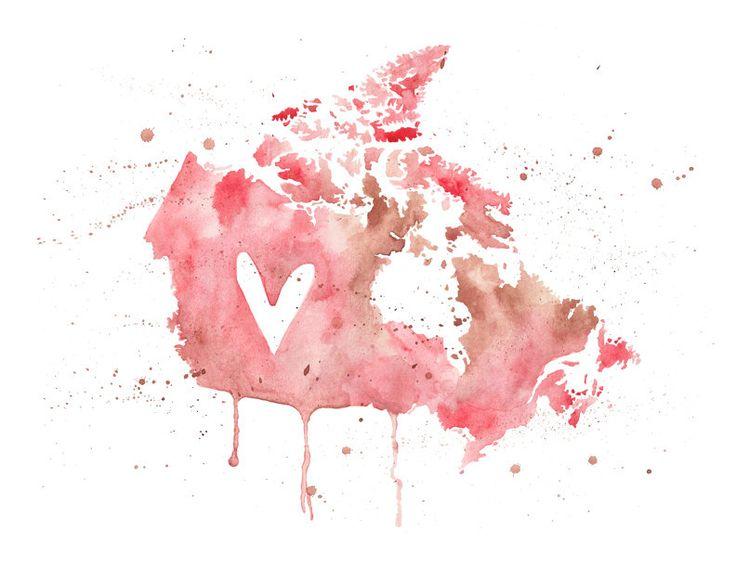 5x7 - Canada Love. $10.00, via Etsy.