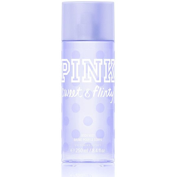 PINK Sweet & Flirty Body Mist (£13) liked on Polyvore featuring beauty products, fragrance, perfume, beauty, accessories, makeup, victoria's secret, pink, victoria secret pink perfume and perfume fragrances