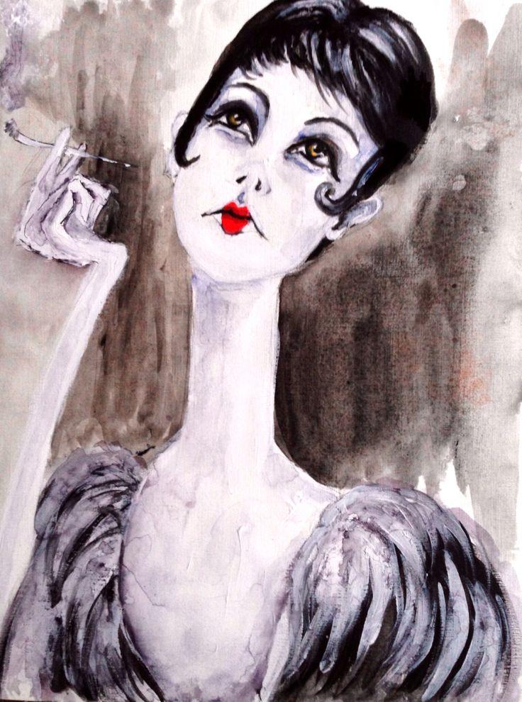 Mademoiselle chante le Blues (Acryl)