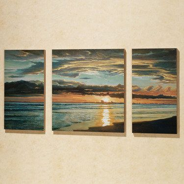 Quiet Skies Triptych Canvas Art Set