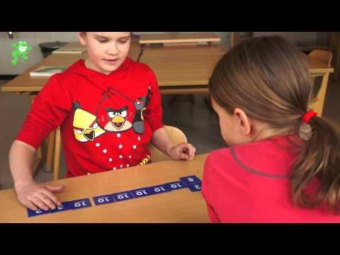 Groep 4 - Erop of eronder 70 kaarten met daarop 10 getallen 1 t/m 9 elk 3 x doelgetal op post-it briefje. nadat iemand zegt erop of eronder mag de ander nog 2 kaarten pakken om zo dicht mogelijk bij het doelgetal te komen.