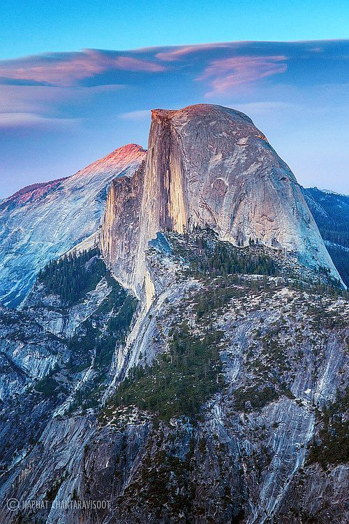 Glacier Point, Yosemite, USA -I've been there.. so beautiful that everything looks like a fake backdrop.