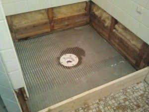 Shower Floor Repair   Demo And Pre Pan   Tile Contractor