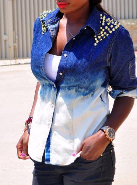 jaqueta jeans feminina customizada - Pesquisa Google