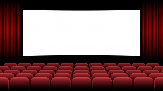 Cinema Movie Theater With Blank Screen And Red Seat Cinema Movie Theater Door Design Wood Cinema Movies