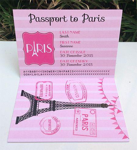 Passport to Paris Baby Shower