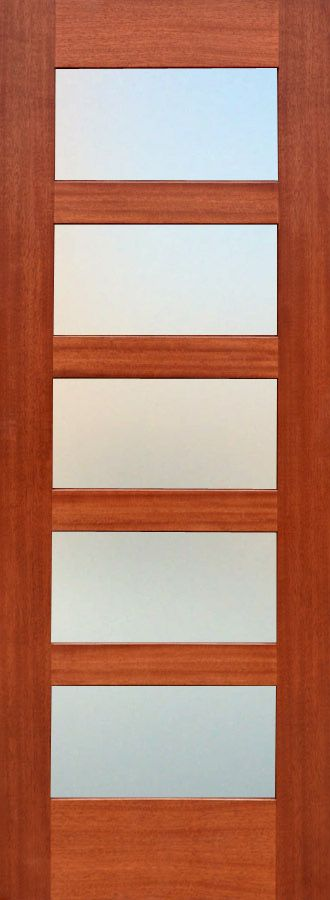 Shaker 5 Panel Interior Door With Frosted Class  Perfect For A Bathroom  Idea  Bought