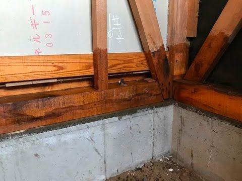 シロアリ防蟻処理(白蟻・白あり)の方法 古河市SK様邸浴室(お風呂)の防蟻処理材塗布