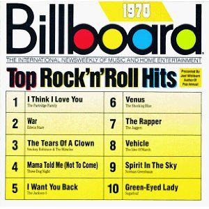 Billboard Top Rock 'n' Roll Hits: 1970  These were posted in the store where we would go to buy singles.