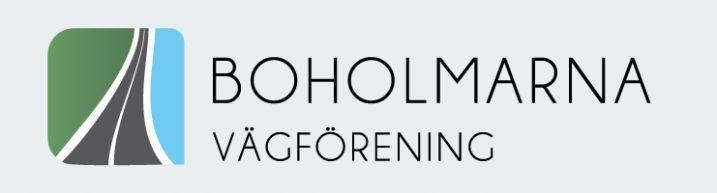 Logotype for Boholmarna vägförening by Orangia AB