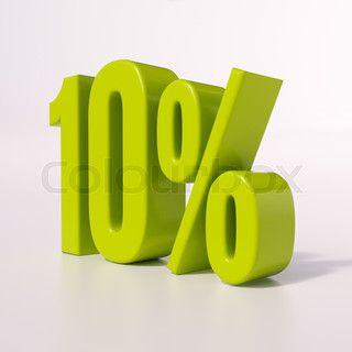 Percentage sign, 10 percent