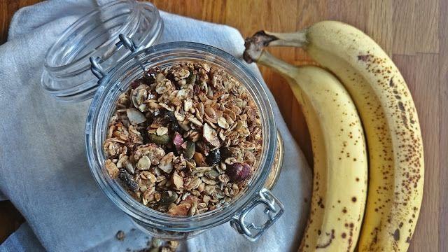 Ruokakonttuuri: Banaanigranola / Banana granola