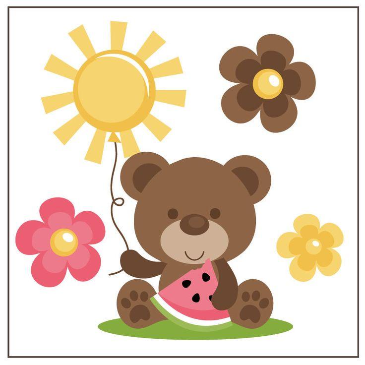 Cute Summer Bear SVG file