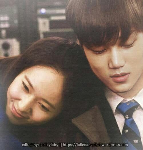 Kai and Krystal arghh cutiessss . krystal is like the luckiest girl alive <3