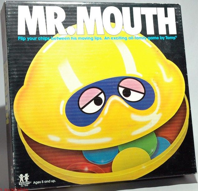 """TOMY: 1977 Mr. Mouth Game. I can still hear the song on the commercial - """"MISTER MOUTH, MISTER MOUTH..."""""""