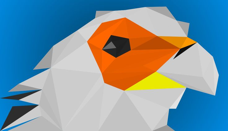 #inkscape #bird #abstraction #graphics #design #vector #triangles