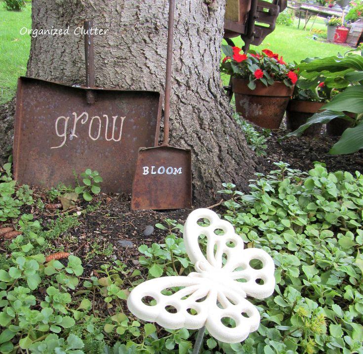 Another Rusty Shovel Garden Sign - 258 Best Junk Gardening - Organized Clutter Blog Images On