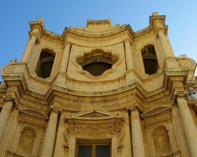 The church of St. Charles Borromeo, Noto, Sicily, Italy