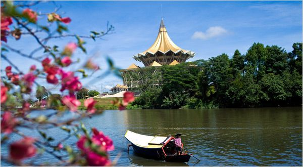 Kuching is the capital and the most populous city in the state of Sarawak in Malaysia. It is also the capital of Kuching Division. The city is situated on the Sarawak River at the southwest tip of the state of Sarawak on the island of Borneo. Kuching is the main gateway for travellers visiting Sarawak and Borneo. Kuching Wetlands National Park is located about 30 kilometres from the city and there are many other tourist attractions in and around Kuching.