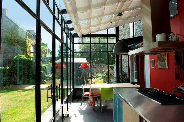 42 best extension la maison s 39 agrandit images on pinterest bay windows home ideas and my house - Extension cuisine sur jardin ...