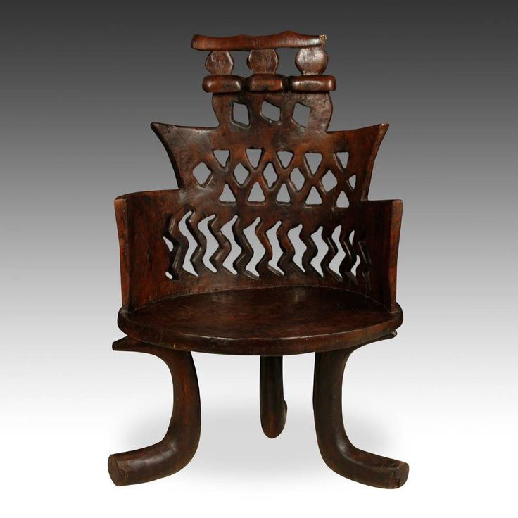 Africa | Ethiopia | Jimma Chair | Wood | Late 19th  Early 20th C.
